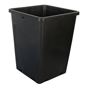 FHD 6.5L SQUARE BLACK POT 7.5''X7.5''X10'' (1)