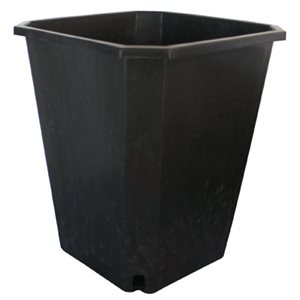 FHD 11L SQUARE BLACK POT 10'''X10''X11.5'' (1)