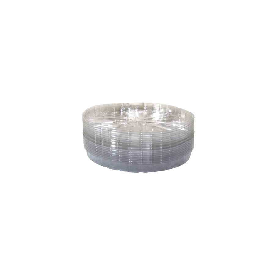 """SAUCER 14"""" CLEAR PLASTIC (50)"""