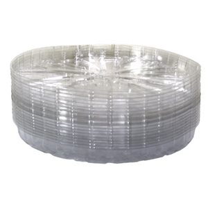 "SAUCER 14"" CLEAR PLASTIC (50)"