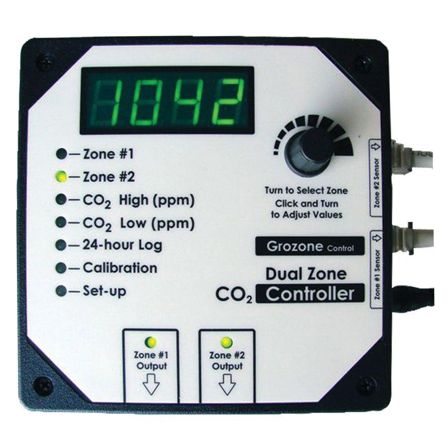 GROZONE CO2D CONTRÔLEUR DE CO2 À 2 ZONES 0-5000 PPM (1)