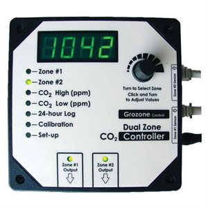 GROZONE CO2D CONTRÔLEUR DE CO2 À 2 ZONES 0-5000 PPM (1)