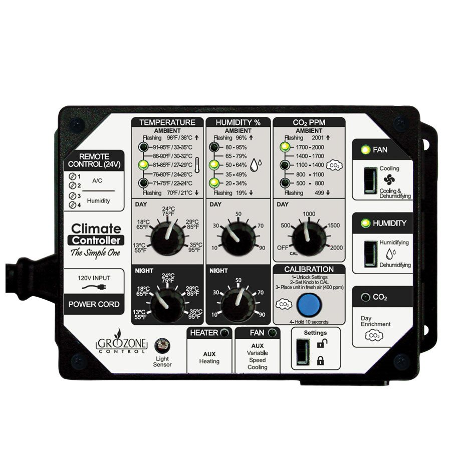 GROZONE SCC1 CLIMATE CONTROLLER T°, RH AND CO2 (1)