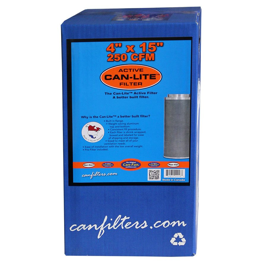 CAN-FILTERS CAN-LITE CARBON FILTER 225 CFM 4'' (1)