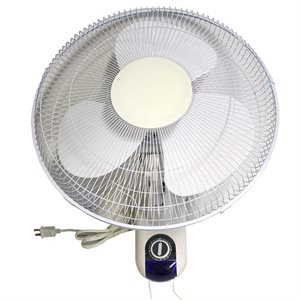 "OSCILLATING WALL FAN DELUXE 16"" 3 SPEED ETL (1)"
