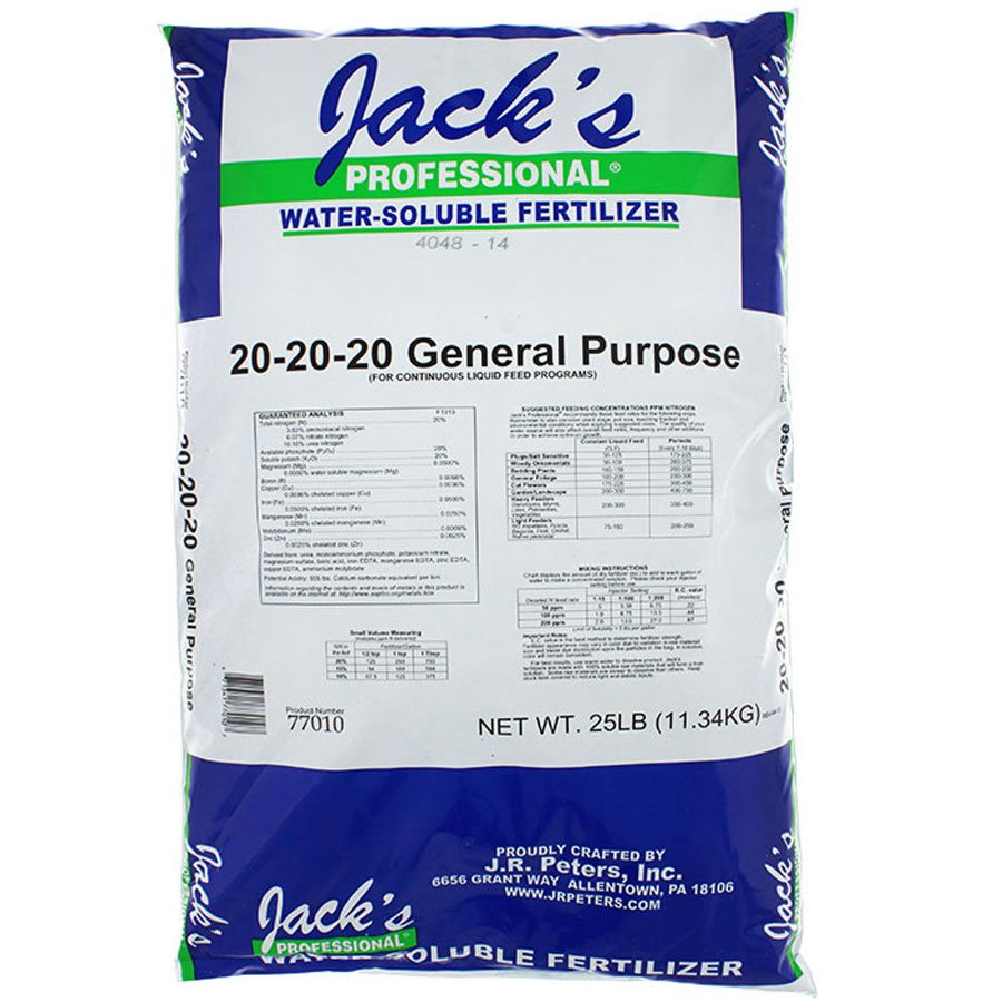 JACK'S GENERAL PURPOSE FERTILIZER 20-20-20 11.33KG (1)