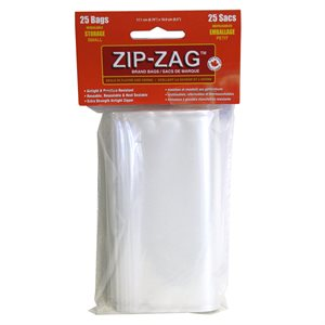 ZIP-ZAG ORIGINAL SANDWICH BAGS 17.1CM X 16CM (25)