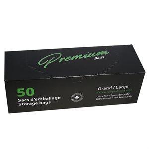 SACS PREMIUM LARGES 30 CM X 30 CM (50)