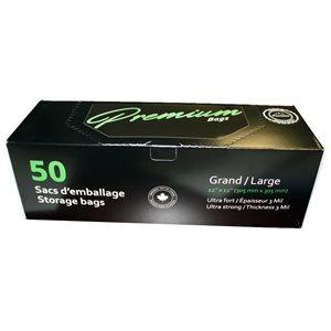 PREMIUM BAGS LARGE GLISSIÈRE DOUBLE 30cm X 30cm (50)