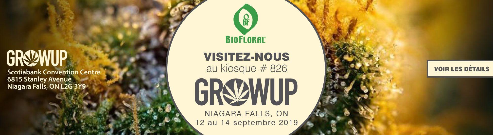 Visitez-nous au GROW UP de Niagara Falls